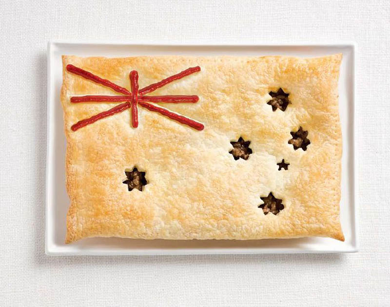 australia flag made from food 18 National Flags Made From Food