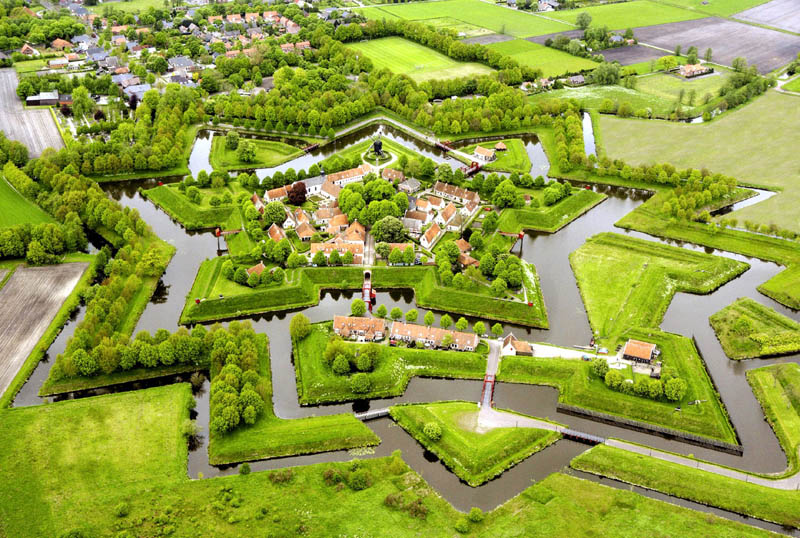 bourtrange star fort and village westerwolde netherlands Picture of the Day: Bourtange Star Fort in Groningen, Netherlands