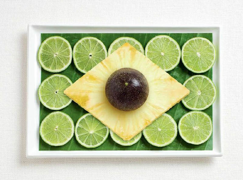 brazil flag made from food 18 National Flags Made From Food