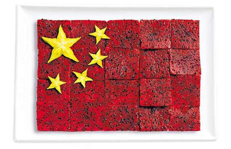 china flag made from food 18 National Flags Made From Food