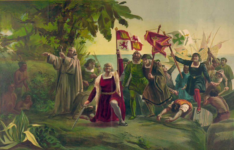 christopher columbus san salvador bahamas 1492 october 12 discovers land This Day In History   October 12th