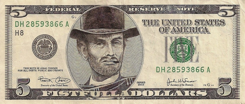 clint eastwood dollar bill currency cash art This Artist Transforms US Banknotes Into Hilarious Portraits