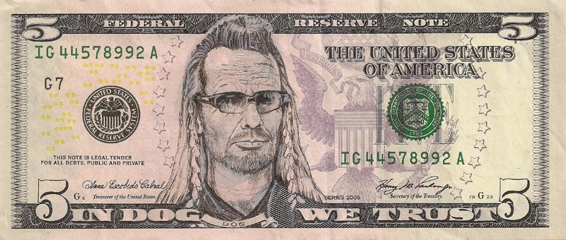 dog the bounty hunter currency cash dollar bill art This Artist Transforms US Banknotes Into Hilarious Portraits