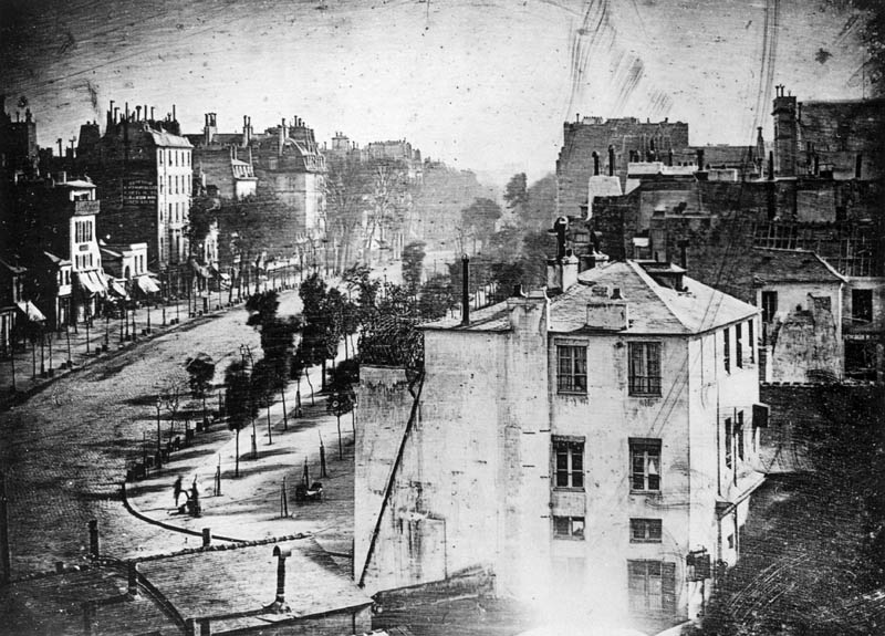 first person people ever photographed boulevard du temple daguerre Picture of the Day: The First People Ever Photographed