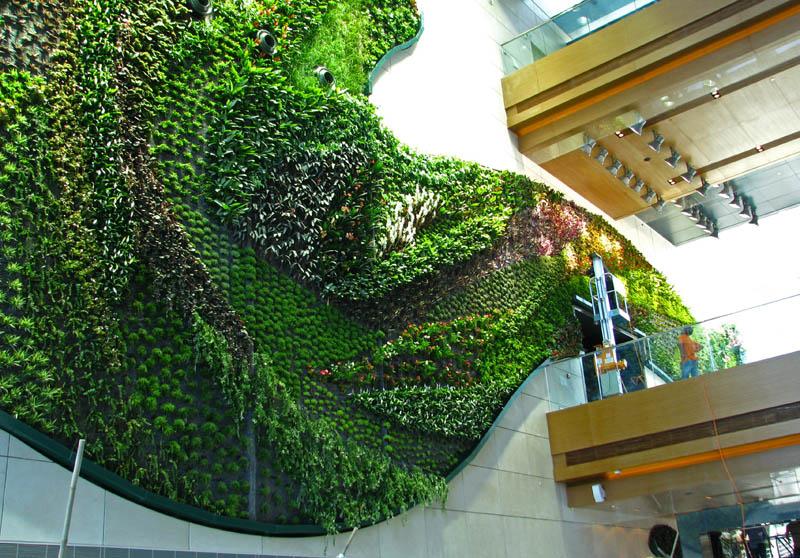icon hotel hong kong polytechnic university vertical wall garden 15 Incredible Vertical Gardens Around the World