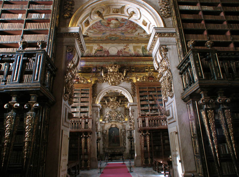 joanina library university of coimbra 15 Beautiful Libraries Around the World