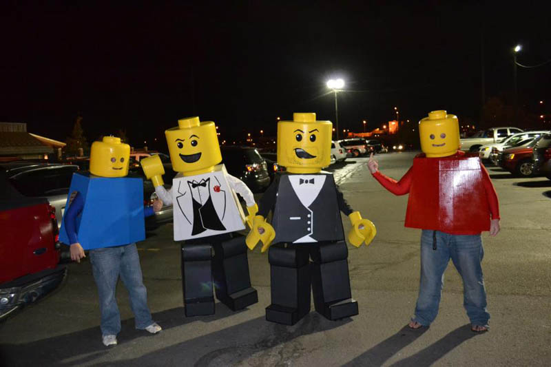 lego man hilarious halloween costume 25 Hilarious Halloween Costumes from the Weekend