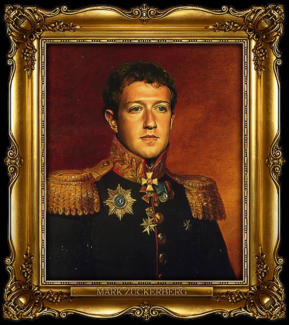mark zuckerberg as russian general portrait 15 Celebrity Portraits Painted Like Russian Generals