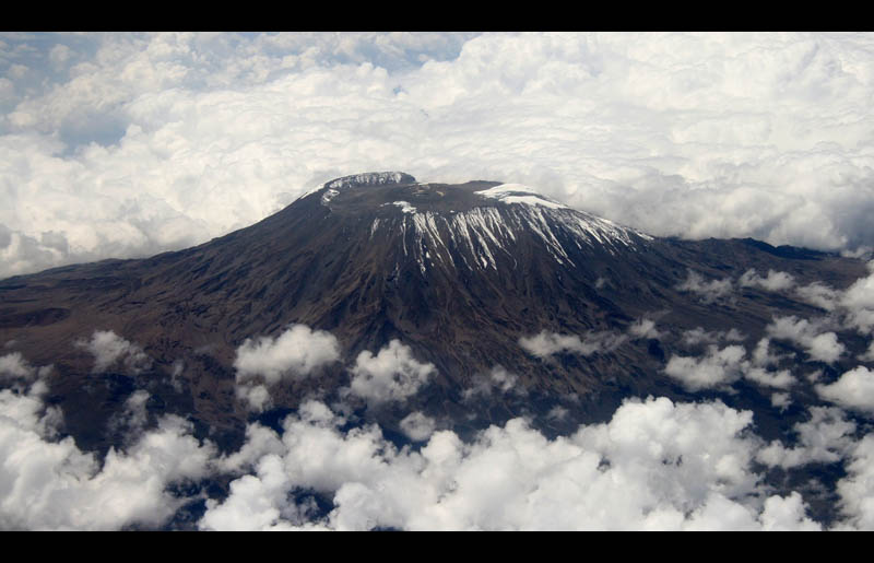 mount kilimanjaro aerial from above the clouds Picture of the Day: Mighty Mount Kilimanjaro