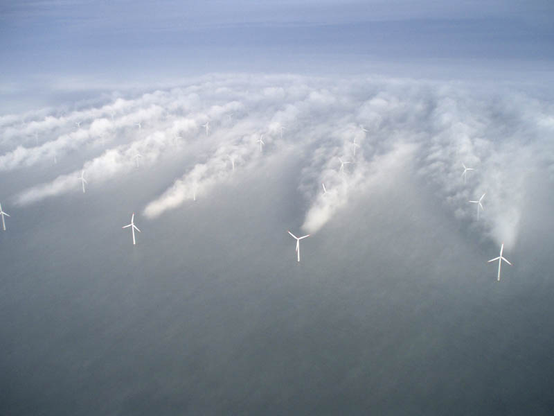 offshore wind turbine clouds horns rev 1 Picture of the Day: Amazing Turbine Clouds in the North Sea