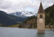 Picture of the Day: The Submerged Clock Tower of Lake Reschen