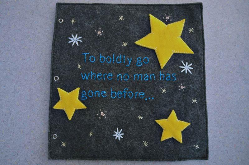 sewn felt star trek queit book for children 1 Awesome Star Trek Quiet Book for Kids