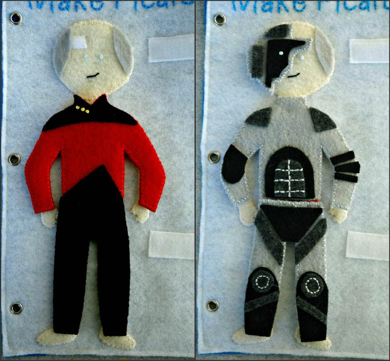 sewn felt star trek queit book for children 18 Awesome Star Trek Quiet Book for Kids