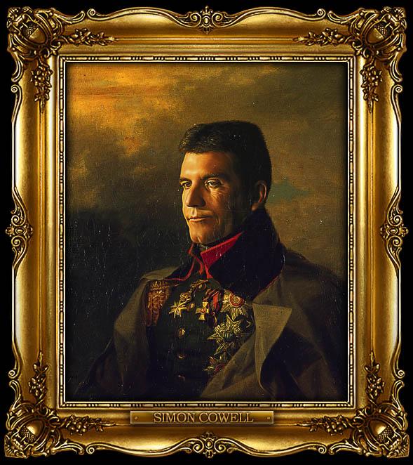 simon cowell as russian general portrait 15 Celebrity Portraits Painted Like Russian Generals