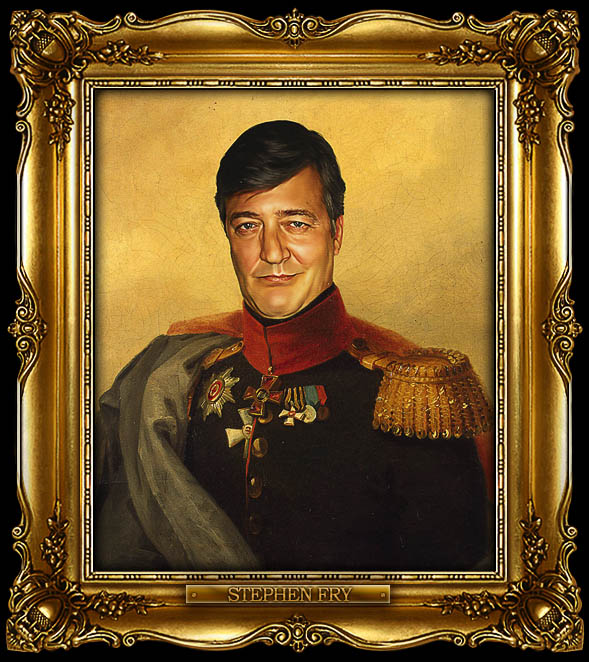 stephen fry as russian general portrait 15 Celebrity Portraits Painted Like Russian Generals