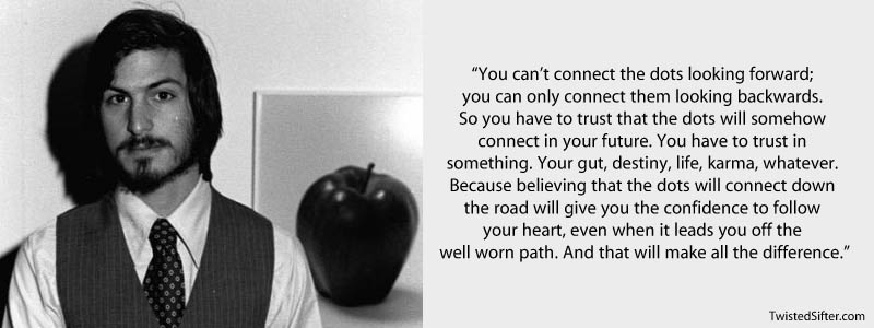 steve jobs connect the dots quote 20 Most Inspirational Quotes by Steve Jobs