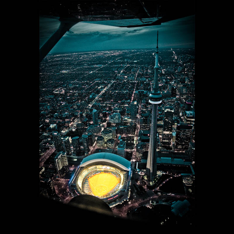 toronto skyline aerial from above at night Picture of the Day: Toronto at Night
