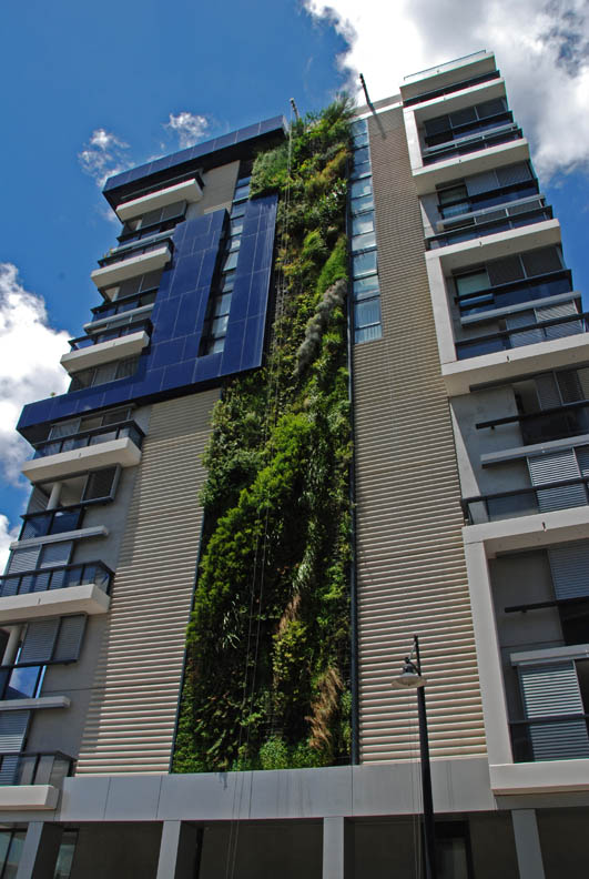 trio building sydney vertical wall garden 15 Incredible Vertical Gardens Around the World