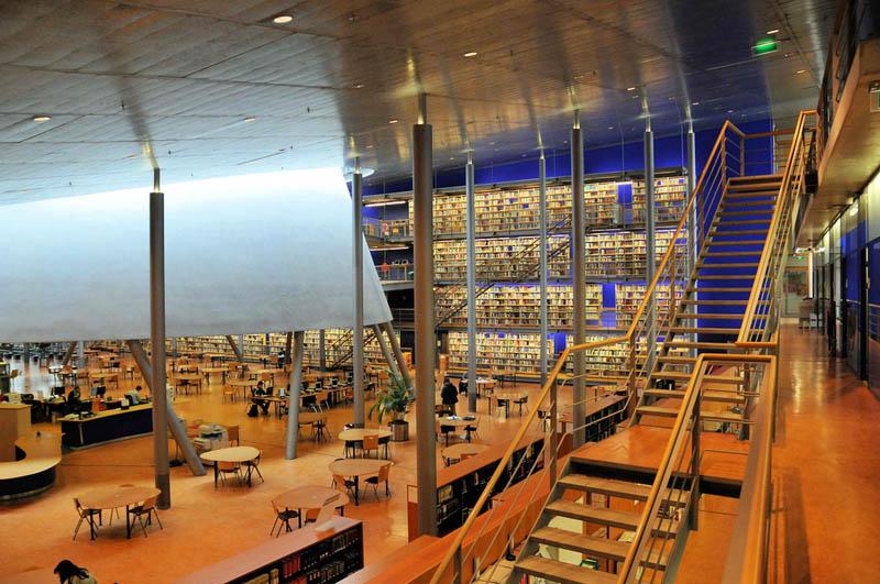tu delft library interior 15 Beautiful Libraries Around the World