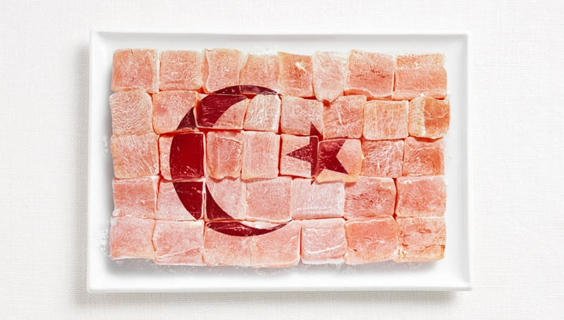 turkey flag made from food 18 National Flags Made From Food