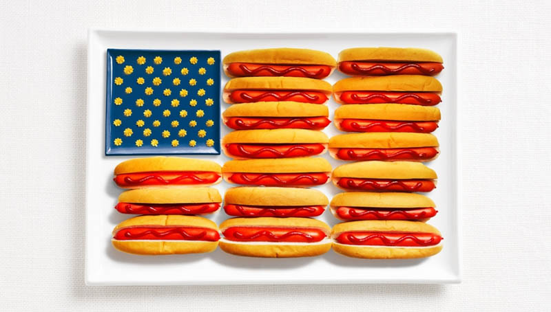 united states flag made from food 18 National Flags Made From Food