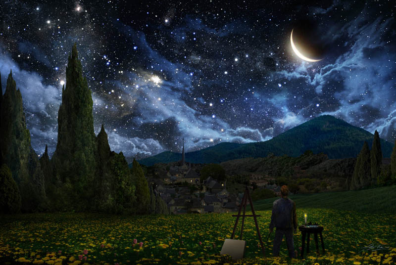 van gogh painting starry night Picture of the Day: Imagining Van Gogh's Starry Night