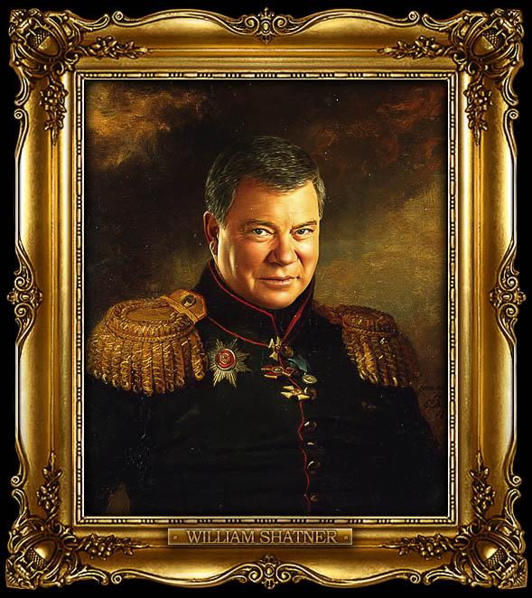 william shatner as russian general portrait 15 Celebrity Portraits Painted Like Russian Generals
