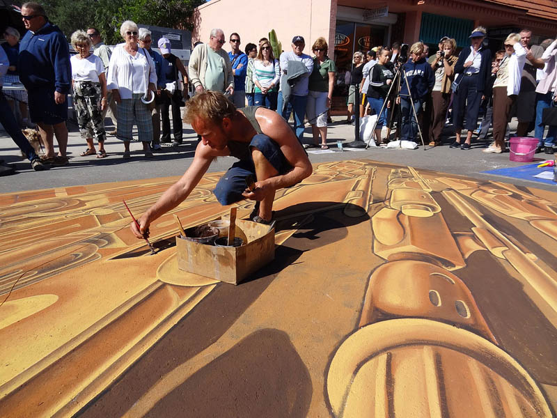 3d sidewalk chalk art lego terracotta warriors army 4 3D Sidewalk Art: Lego Terracotta Warriors