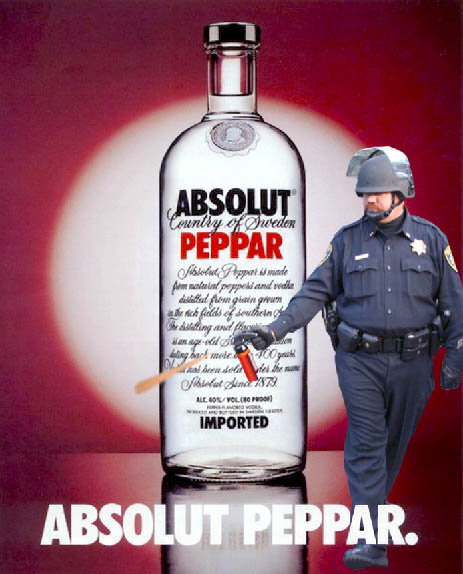 absolut peppar vodka pepper spray cop Pepper Spray All the Things: 35 Funniest Photoshops