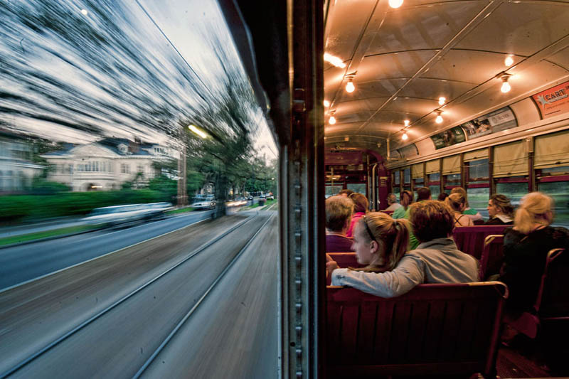 at the speed of life blurry outside in focus inside bus trolley streetcar Picture of the Day: At the Speed of Life