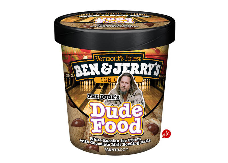big lebowski dude food funny ben and jerrys ice cream labels flavors 10 Funny Ben & Jerrys Pop Culture Ice Cream Flavors