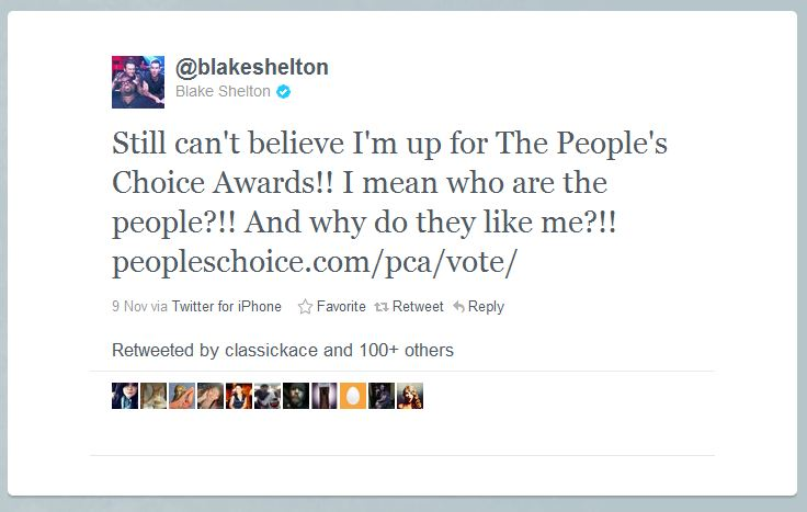 blake shelton humblebrag 50 Hilarious Humble Brags on Twitter