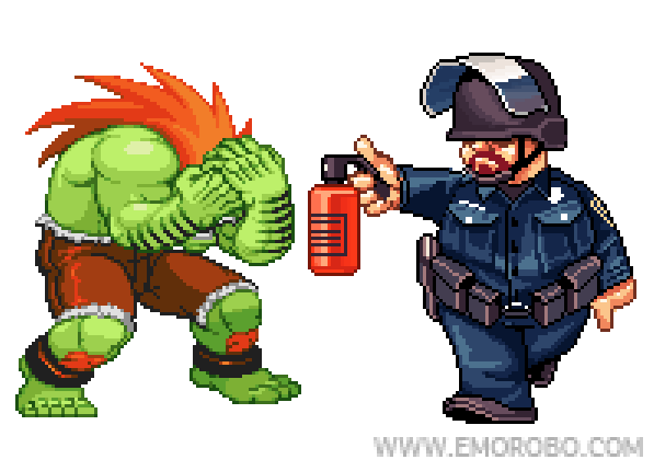 blanka pepper spray cop Pepper Spray All the Things: 35 Funniest Photoshops