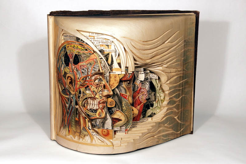 Intricate Book Art Carvings by Brian Dettmer
