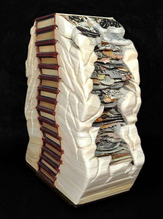 book art carving sculpture brian dettmer 21 Intricate Book Art Carvings by Brian Dettmer