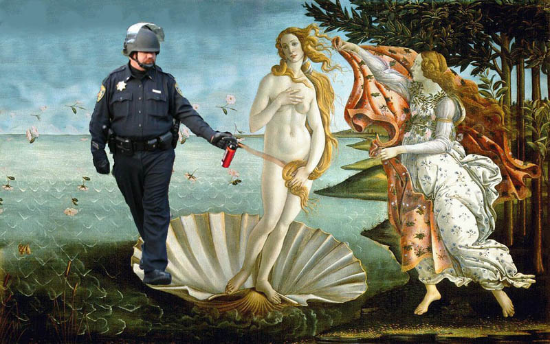 boticellis pepper spray cop Pepper Spray All the Things: 35 Funniest Photoshops
