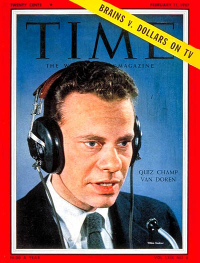 charles van doren time magazine cover quiz show scandals This Day In History   November 2nd