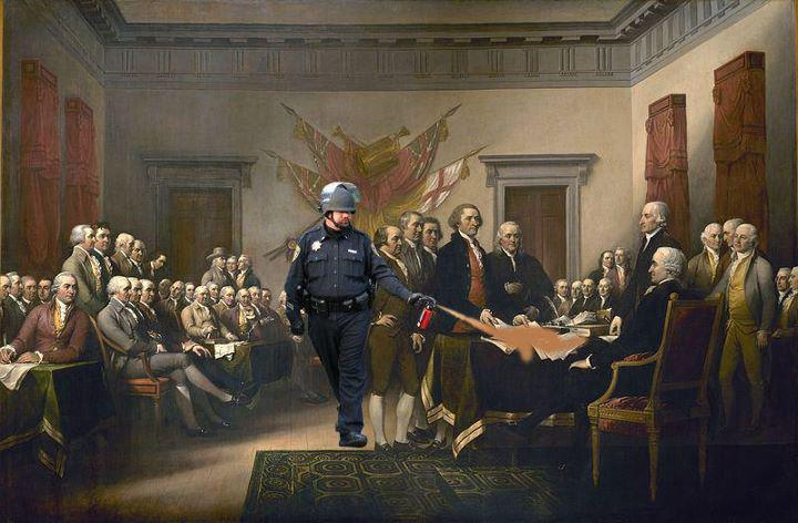 constitution pepper spray cop Pepper Spray All the Things: 35 Funniest Photoshops