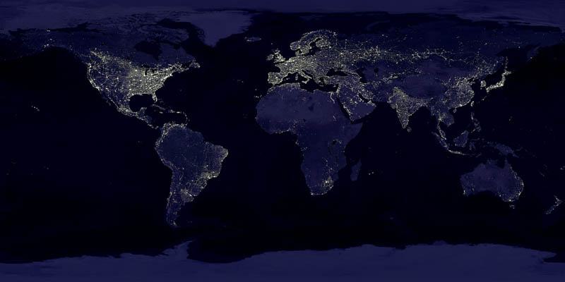 earth at night nasa 15 Mind Blowing Featured Images by NASA