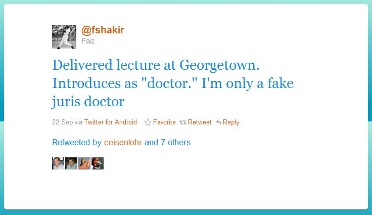 faiz shakir humblebrag 50 Hilarious Humble Brags on Twitter