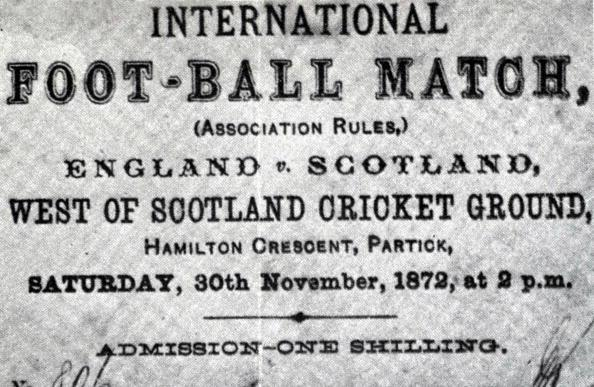 first ever football match 1872 scotland england ticket stub This Day In History   November 30th