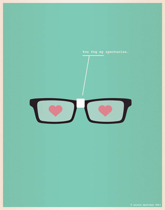 fog my spectacles nerdy love poster 12 Nerdy Professions of Love