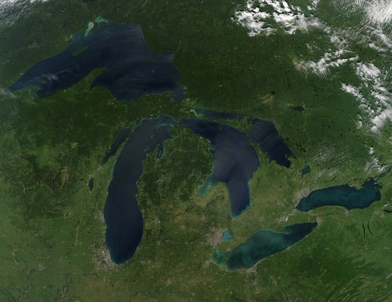 great lakes from space no clouds nasa 15 Mind Blowing Featured Images by NASA