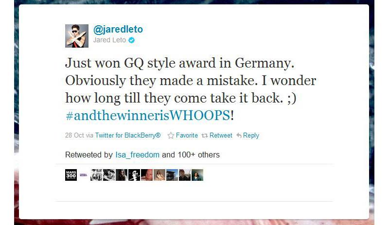 humblebrag jared leto 50 Hilarious Humble Brags on Twitter