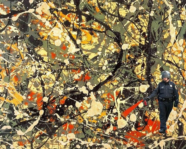 jackson pollock pepper spray cop Pepper Spray All the Things: 35 Funniest Photoshops