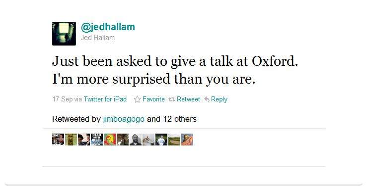 jed hallam humblebrag 50 Hilarious Humble Brags on Twitter