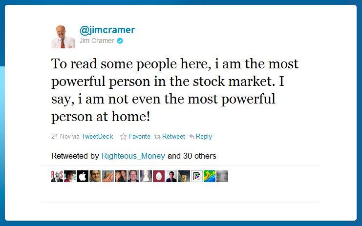 jim cramer humblebrag 50 Hilarious Humble Brags on Twitter