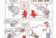 Laser Pointer Cat [Comic Strip]
