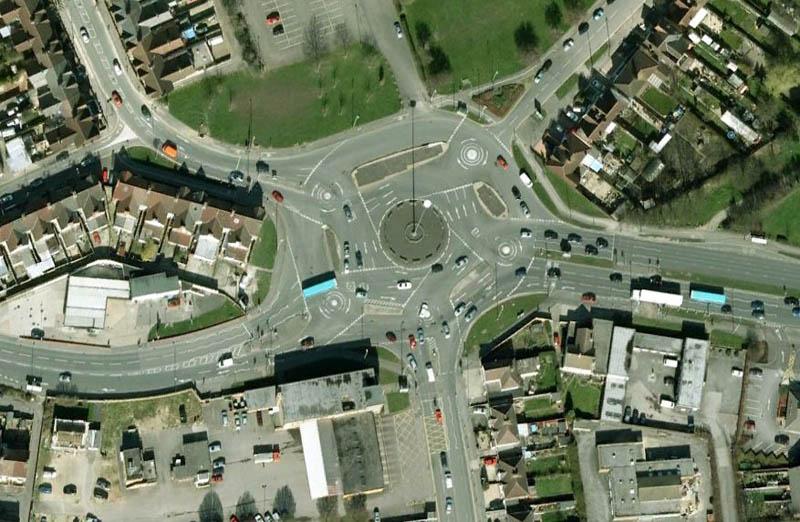 magic roundabout intersection swindon england 1 Picture of the Day: The Magic Roundabout in Swindon, England