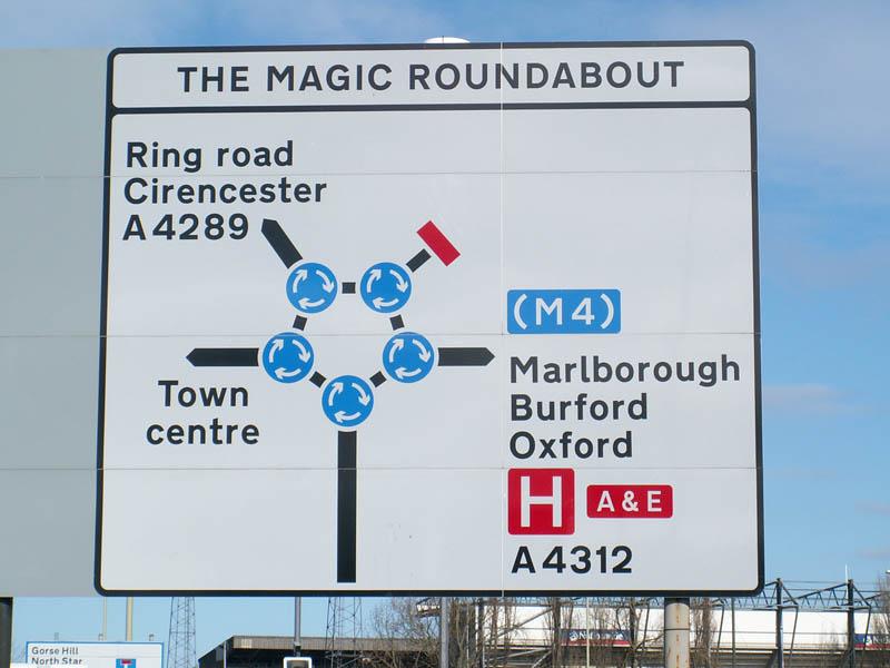 magic roundabout intersection swindon england 2 Picture of the Day: The Magic Roundabout in Swindon, England